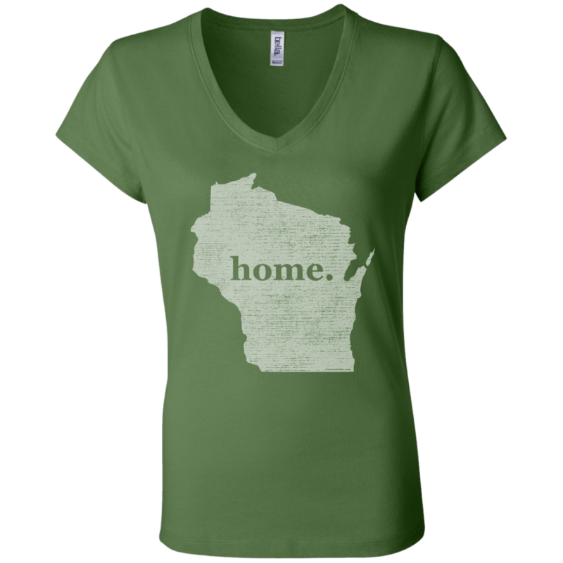 Wisconsin Home Womens Jersey V-Neck T-Shirt