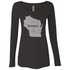 Womens long sleeve wisconsin home tshirt