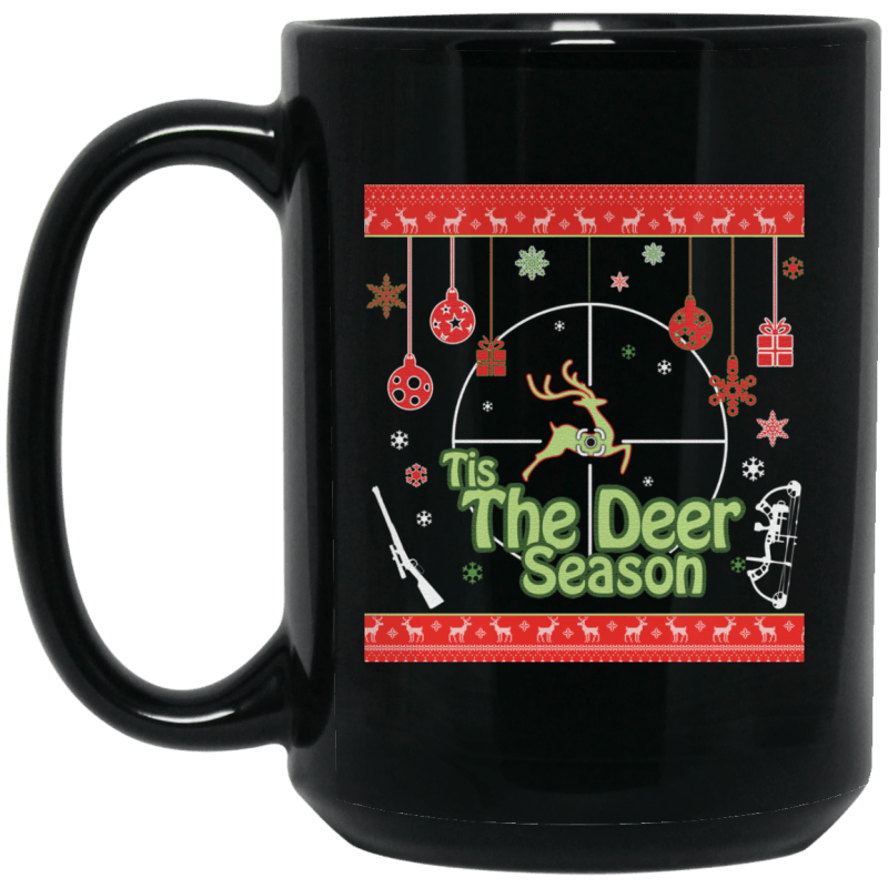 Tis The Deer Season Christmas Coffee Hunting Mug 15 oz