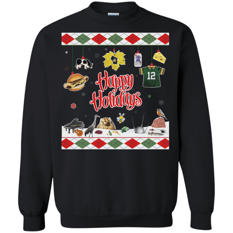 Wisconsin Ugly Holiday Christmas Sweater