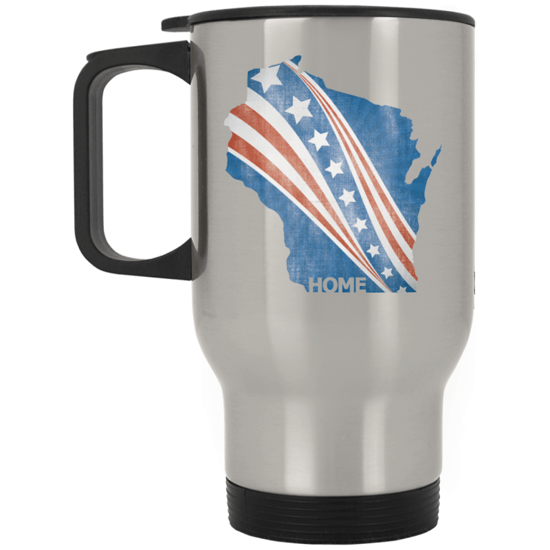 Wisconsin Patriot Stainless Travel Mug
