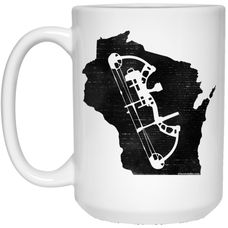 Wisconsin Bow Hunter White Coffee Mug