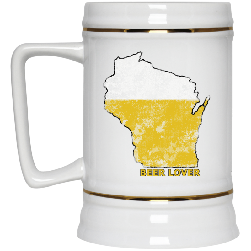 Wisconsin Beer Lover Beer Stein 22oz.