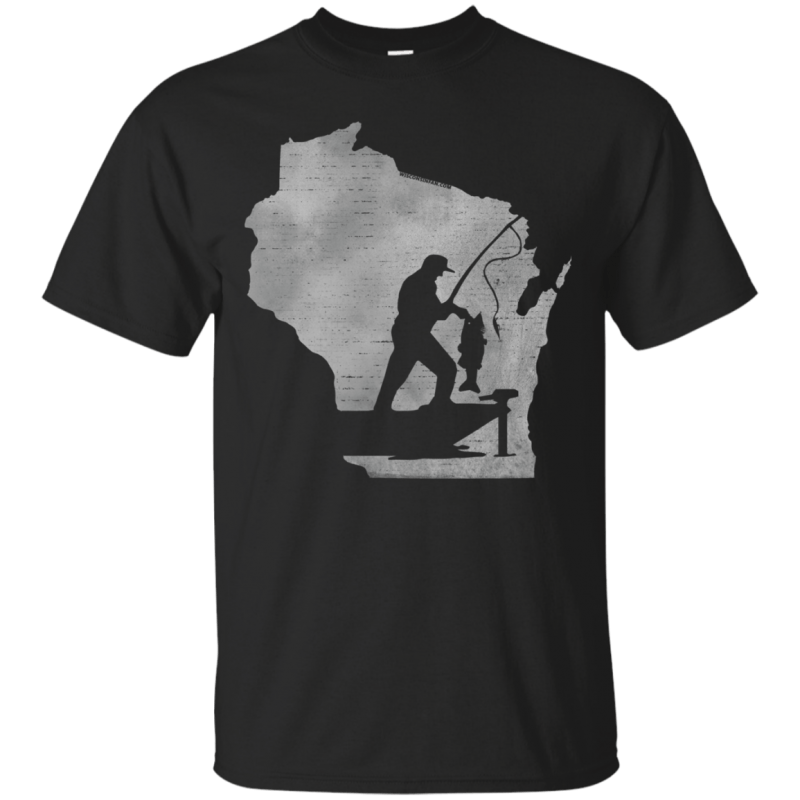 Wisconsin Fisherman Mens T-Shirt