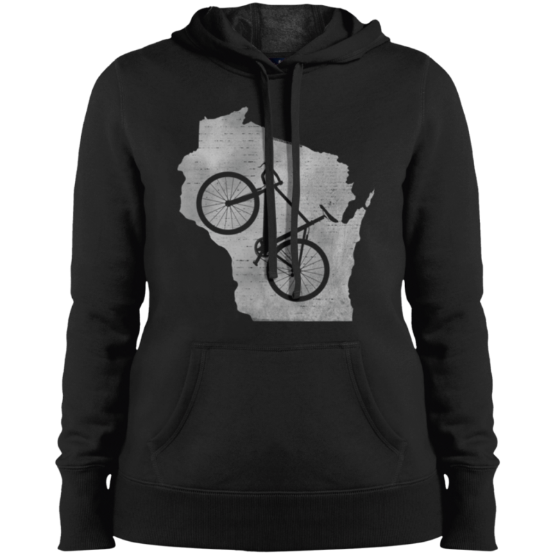 Wisconsin Biking Womens Hoodie Sweatshirt