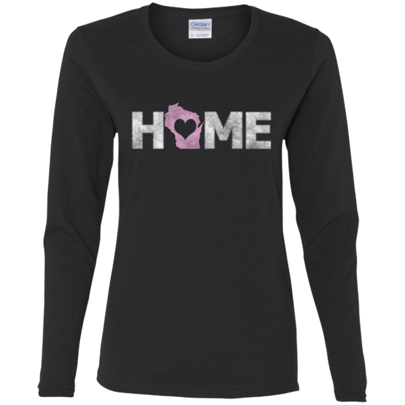 Love Wisconsin Home Womans Cotton LS T-Shirt