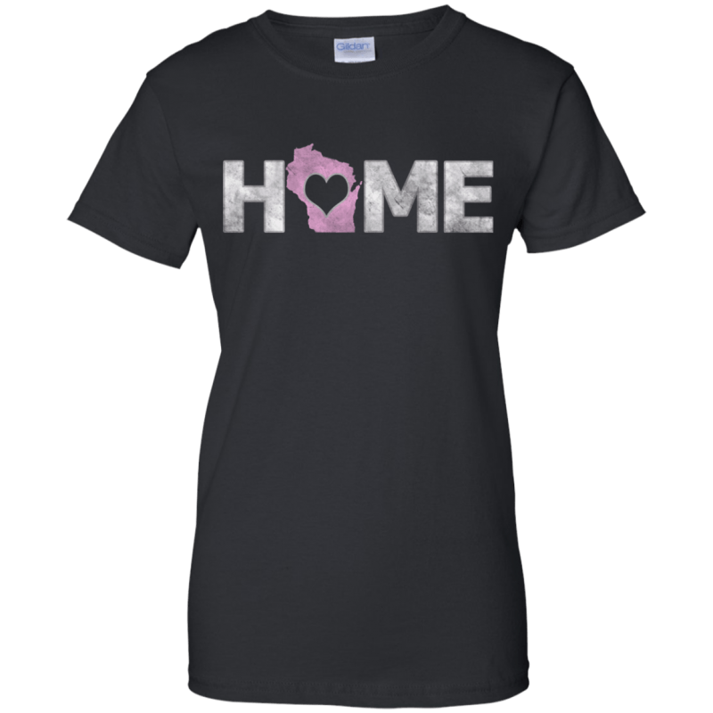 Love Wisconsin Home Ladies 100% Cotton T-Shirt