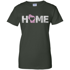 womens home t shirt with state