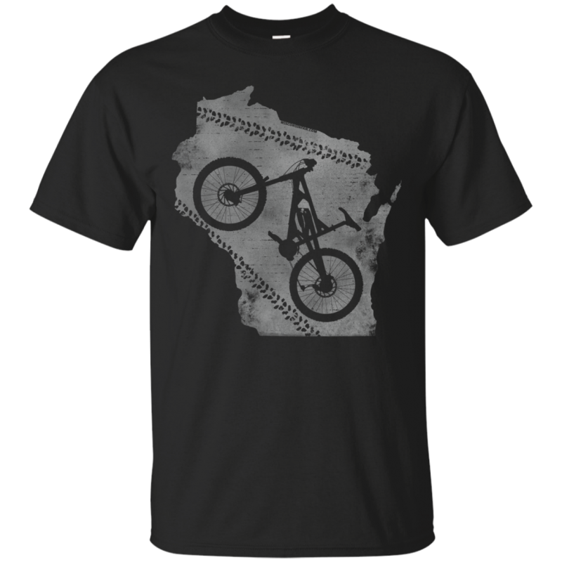 Wisconsin MTB Addict Mens Mountain Biker T-Shirt