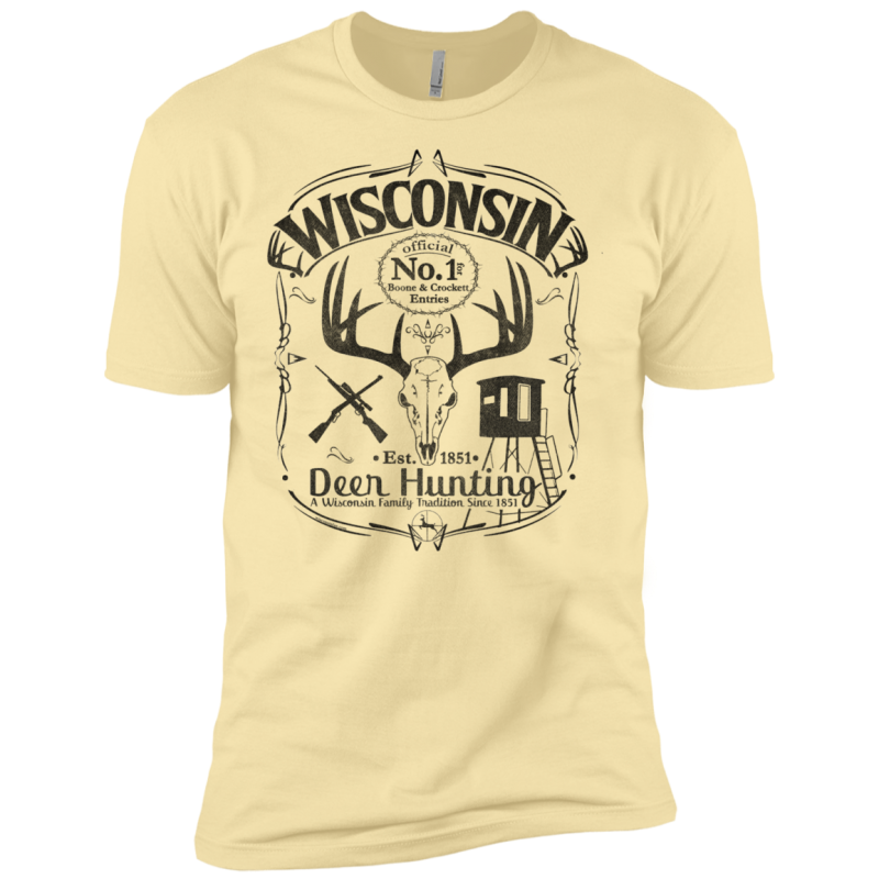 Wisconsin B&C Deer Hunter Premium Short Sleeve T-Shirt