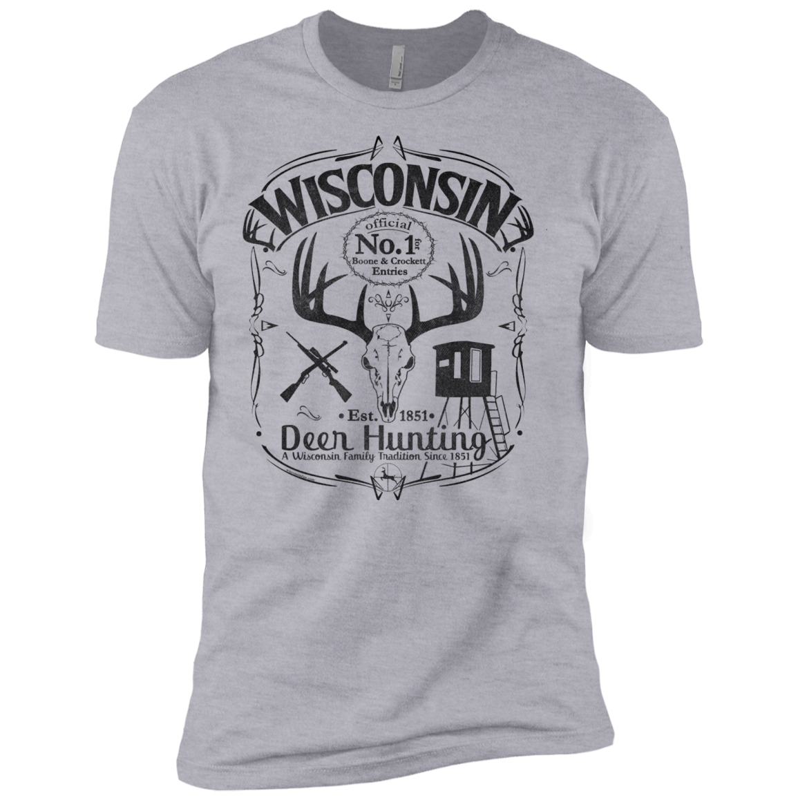 Wisconsin B&C Deer Hunter Premium Short Sleeve T Shirt