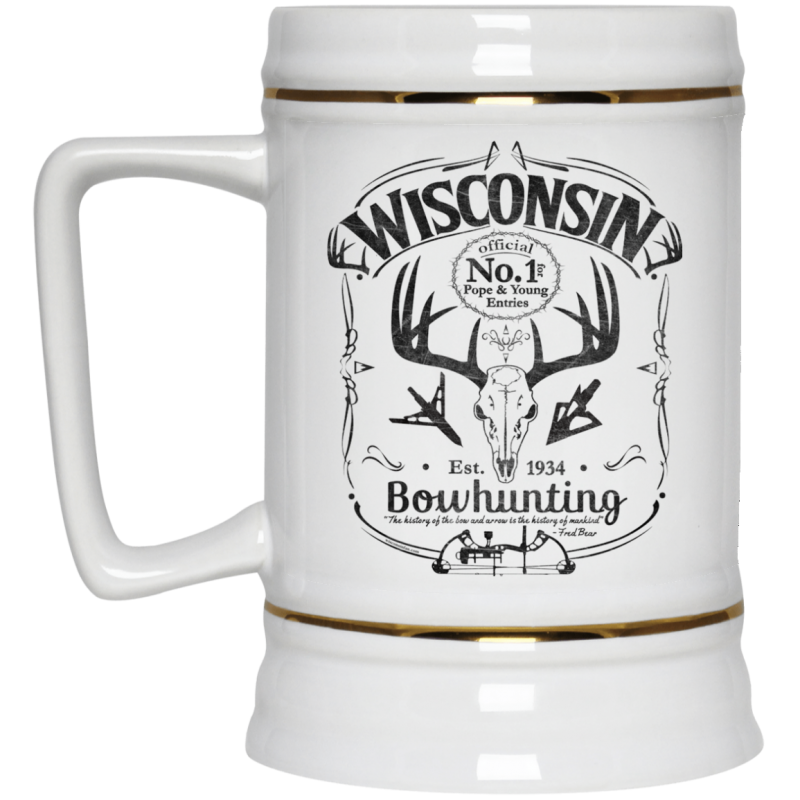Wisconsin Bowhunting Pope-Young Beer Stein 22oz.