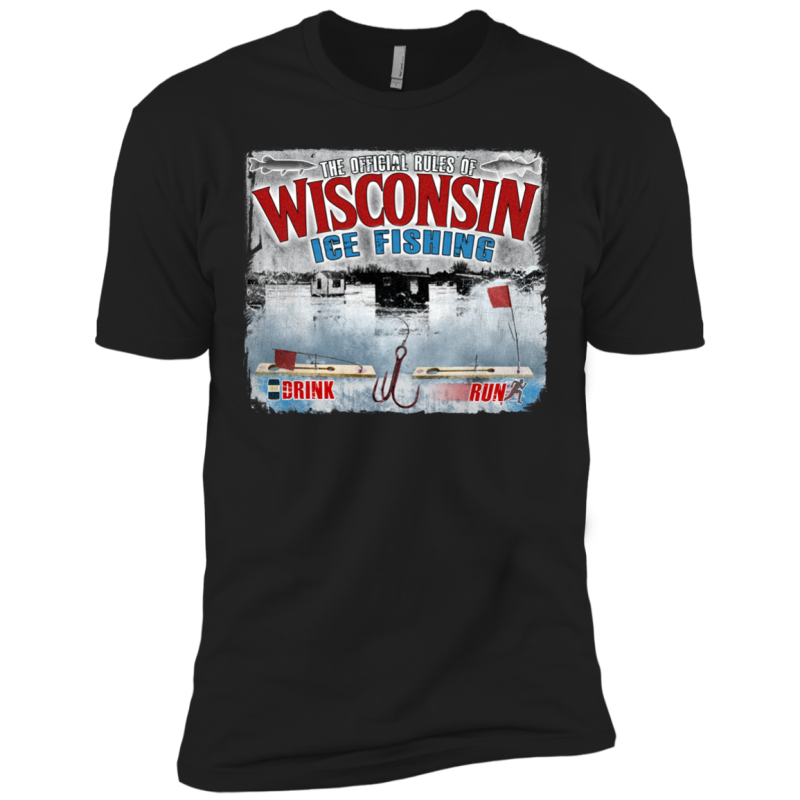 Wisconsin Rules Of Ice Fishing Premium TShirt