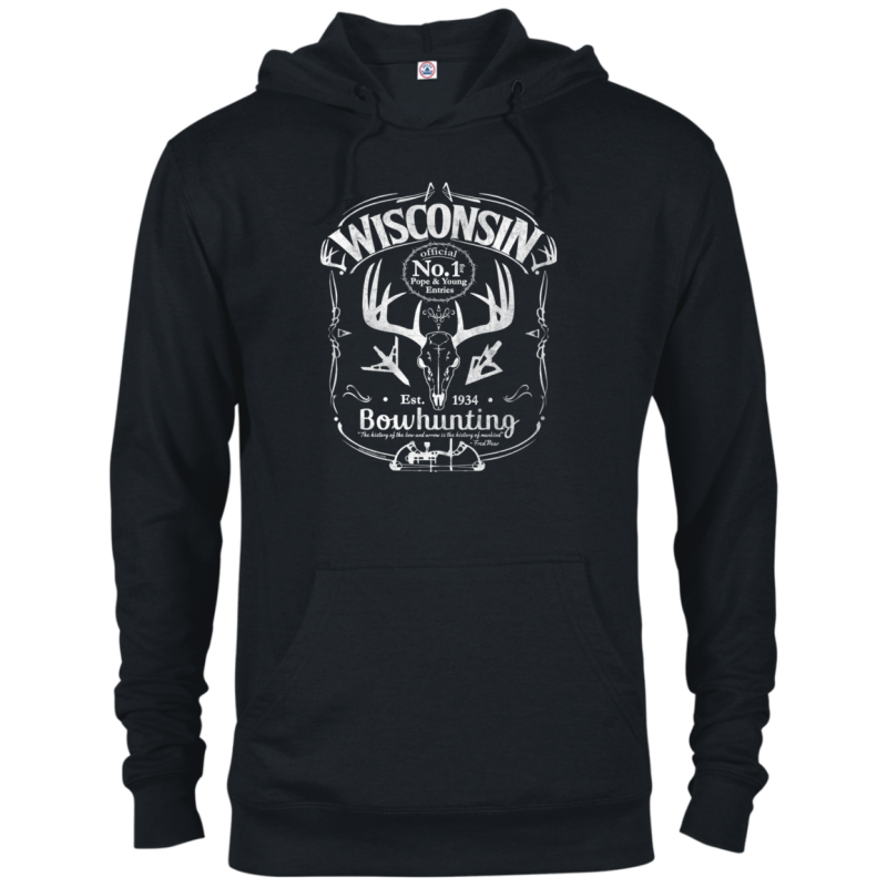 Wisconsin P&Y Bowhunting French Terry Hoodie Wht