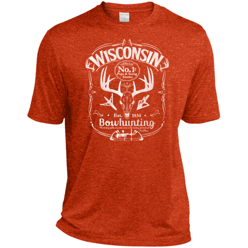 Wisconsin P&Y Bowhunting Moisture-Wicking T-Shirt Wht