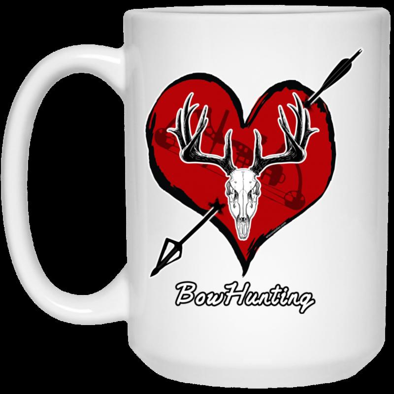 Love Bowhunting White Mug