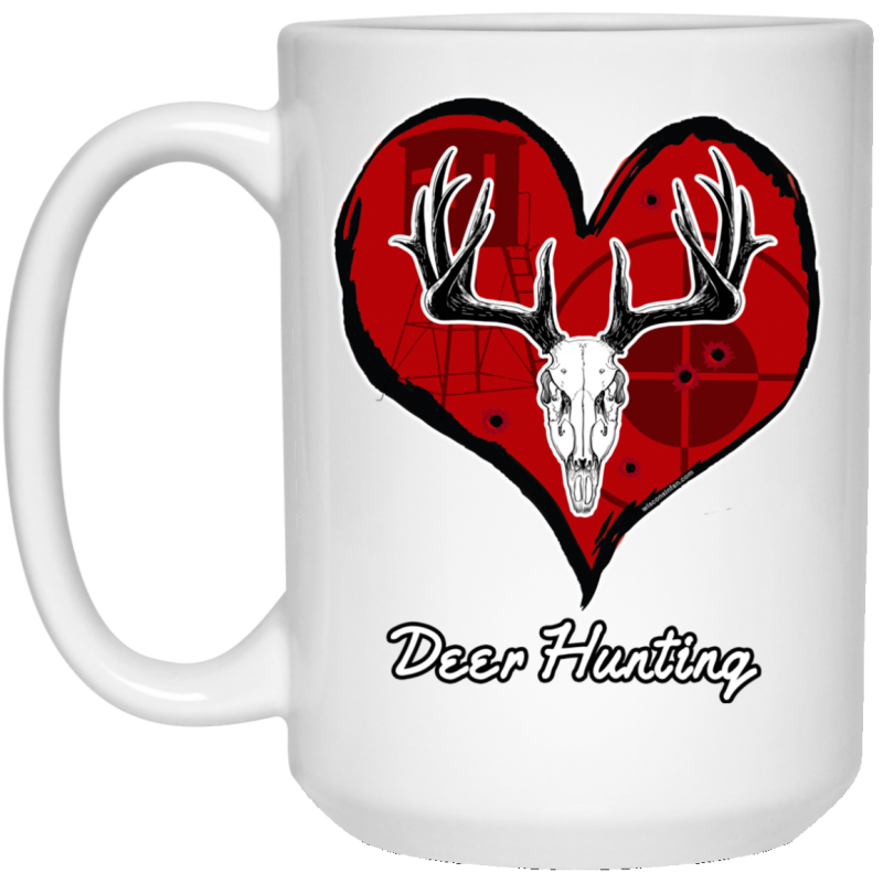 Love Deer Hunting White Coffee Mug
