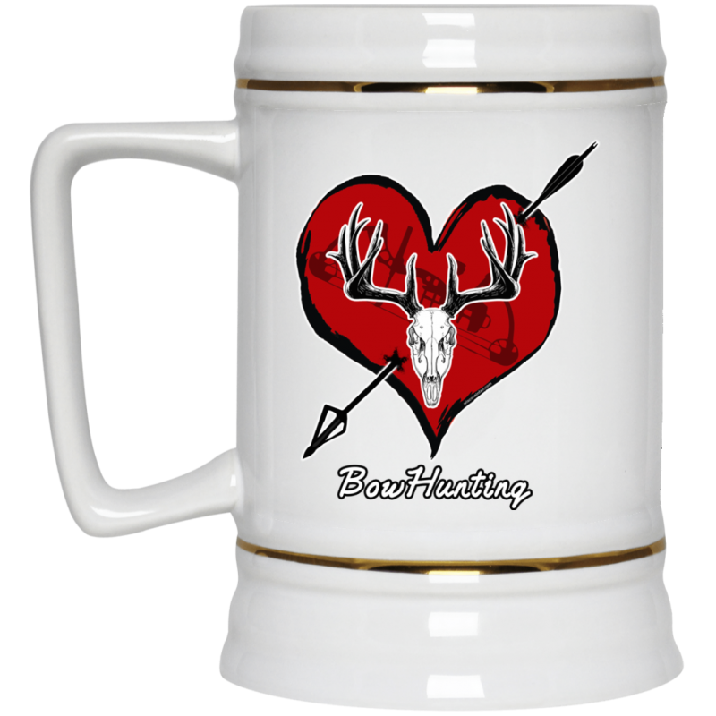 Love Bowhunting Beer Stein 22oz.