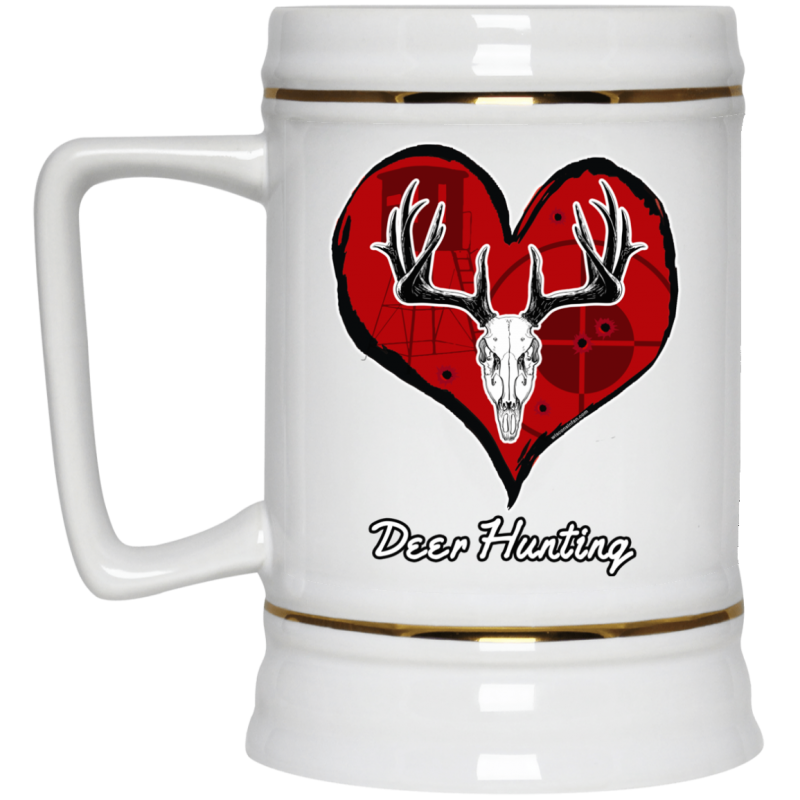 Love Deer Hunting Beer Stein Mug