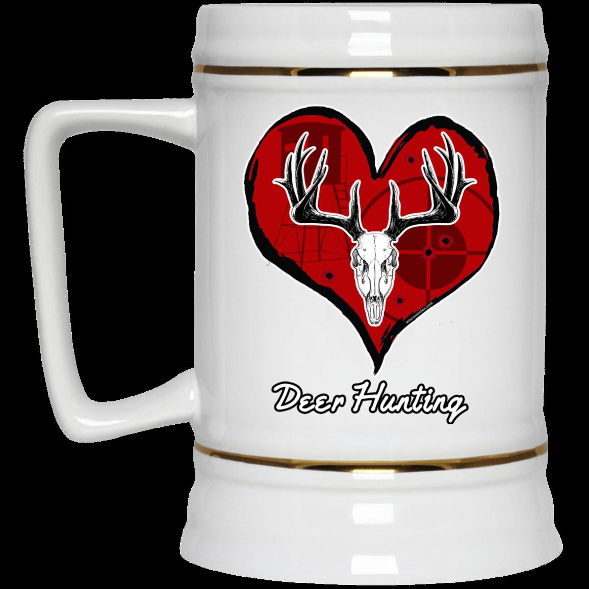 Love Deer Hunting Beer Stein Mug