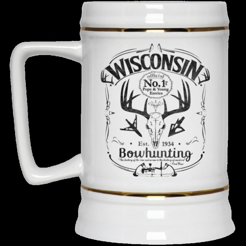 Wisconsin P&Y Bowhunting Beer Stein Mug