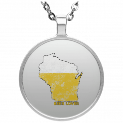 Wisconsin Beer Lover Circle Necklace