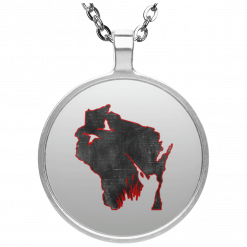 Wisconsin Duck Hunter Silver Necklace