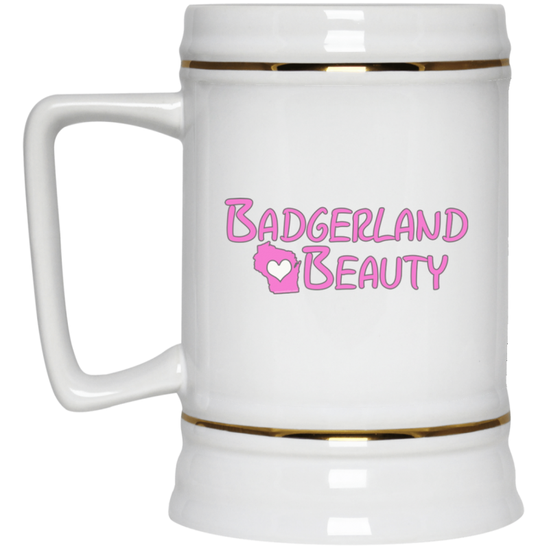 Badgerland Beauty Beer Stein 22oz.