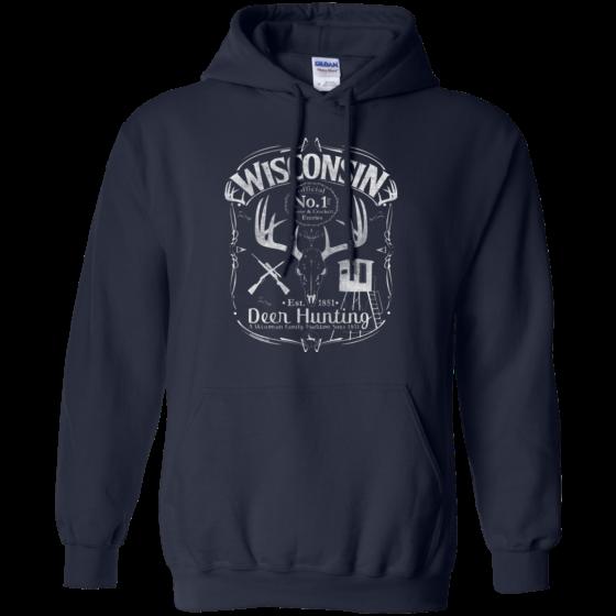 wi deer hunting graphic design hoodie
