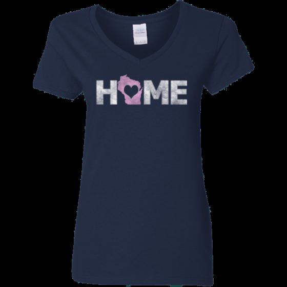 ladies wisconsin home t design shirt