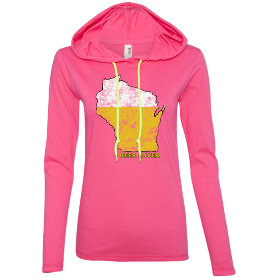 wisconsin home beer drinker ladies long sleeve shirt