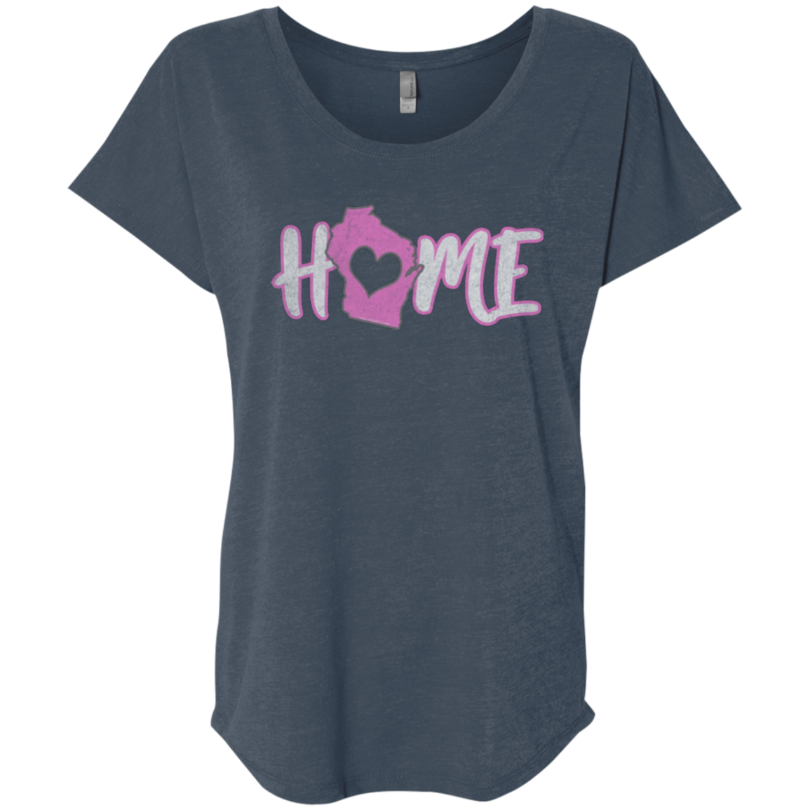 ladies wisconsin home state apparel tee