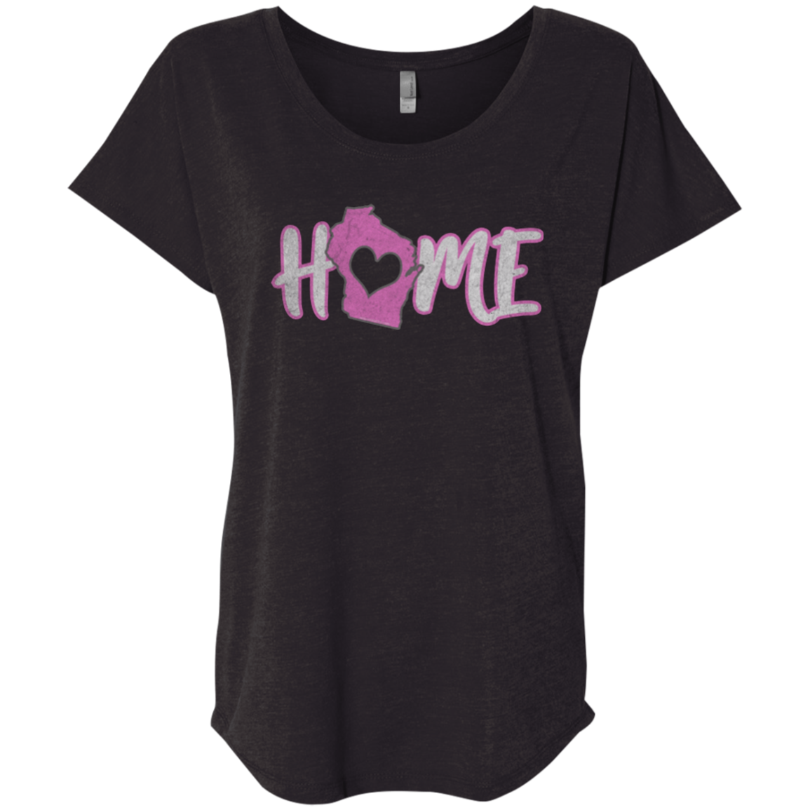 home in wisconsin womens t shirt design