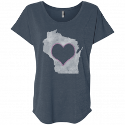 wisconsin home t ladies tshirt