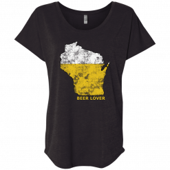 wi beer lover ladies tshirt