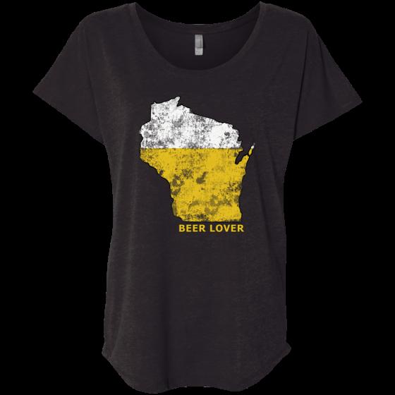 wi beer lover ladies tshirt