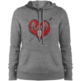 womens hoodie with bow hunting graphic design