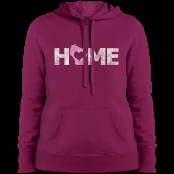 home wisconsin womans hoodie