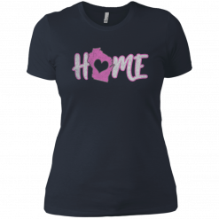 womens home wisconsin t shirt
