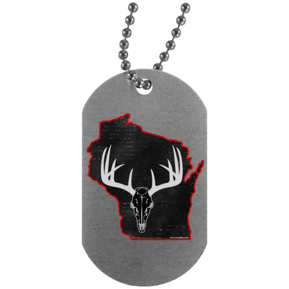 Wisconsin Deer Hunter Silver Dog Tag