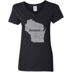 ladies wisconsin home t t-shirt