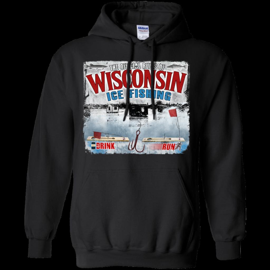 wisconsin ice fishing hoodie