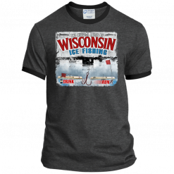 ice fish wisconsin tee