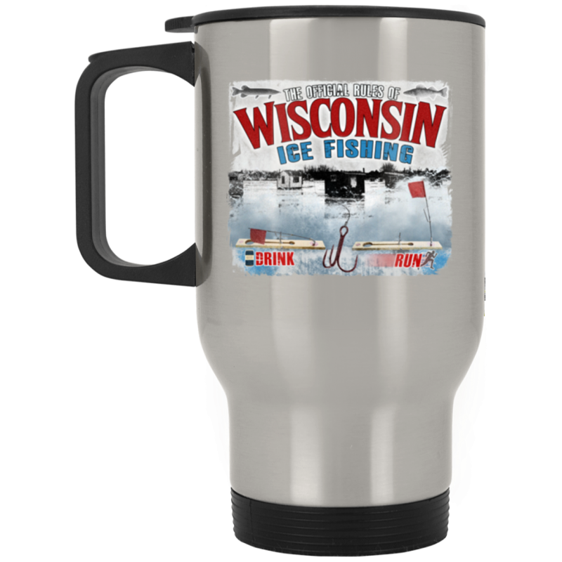 Rules Of WI Ice Fishing Stainless Travel Mug