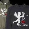 cupid love bowhunting mens hoodie sweatshirt