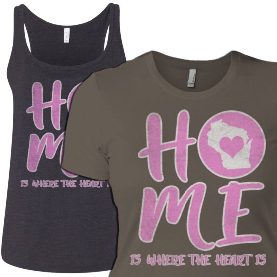 wi home tee for women