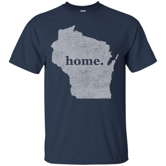 mens wisconsin home state tshirt
