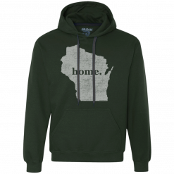 wisconsin home state apparel mens home hoodie