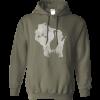 mens sandhill crane hoodie