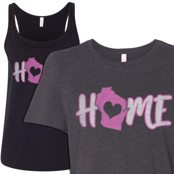 womens home in wisconsin tee shirt tank